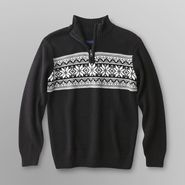 Basic Editions Boy's Quarter-Zip Sweater - Fair Isle at Kmart.com