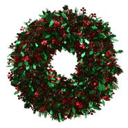 Trim A Home® 20 IN Holiday Icons Tinsel Wreath on Molded Plastic Frame at Kmart.com