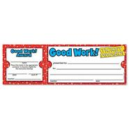 GOOD WORK TICKET AWARDS, 8 1/2W X 2 3/4H, 100 2-PART TICKETS/PACK at Kmart.com