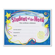 STUDENT OF THE WEEK CERTIFICATES, 8-1/2 X 11, WHITE BORDER, 30/PACK at Kmart.com