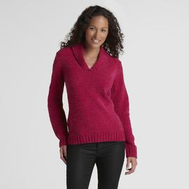 Basic Editions Women's Shawl Collar Chenille Sweater at Kmart.com