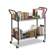 WIRE BOOK CART, STEEL, 4 SHELVES, 43-3/4W X 19-1/4D X 40-1/2H, BLACK at Kmart.com