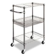 THREE-TIER WIRE ROLLING CART, 16W X 24D X 39H, BLACK ANTHRACITE at Kmart.com