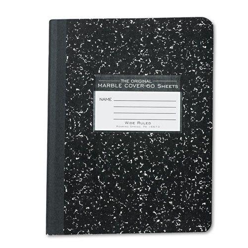Roaring Spring Marble Cover Composition Book  Wide Rule  9 3/4 x 7 1/2  60 Pages PartNumber: 025V006251789000P KsnValue: 6251789 MfgPartNumber: ROA77222