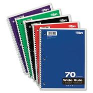 WIREBOUND 1-SUBJECT NOTEBOOK, WIDE RULE, 10-1/2 X 8, WHITE, 70 SHEETS/PAD at Kmart.com