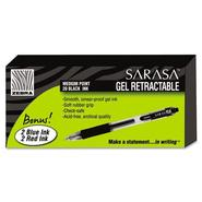 Zebra Sarasa Retractable Gel Pen, Black Ink, Medium, 24 per Box at Kmart.com