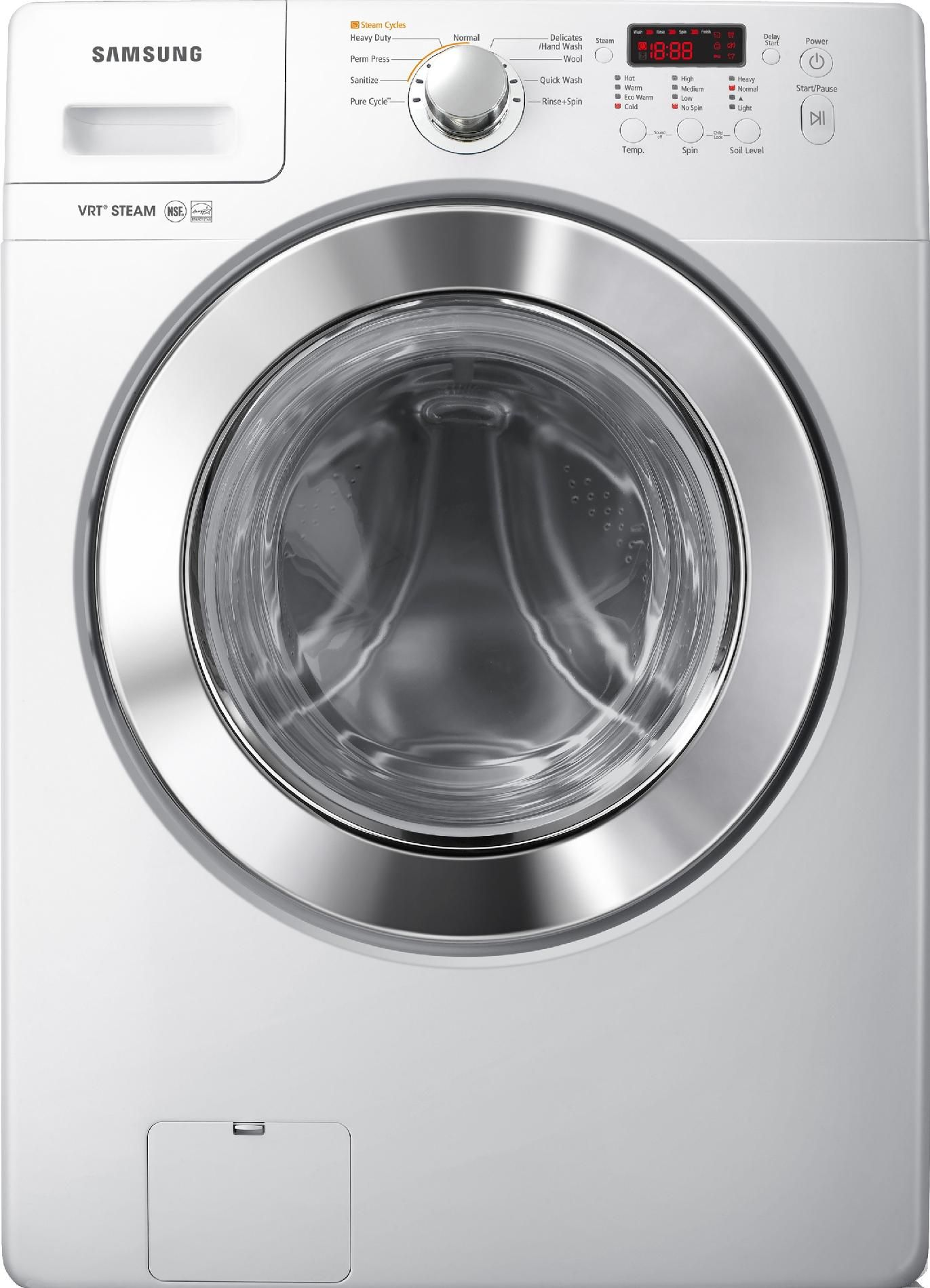 Samsung 3 6 Cu Ft Steam Front Load Washer White Shop