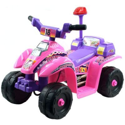 4-Wheel-Battery-Operated-Mini-ATV-Pink-Purple