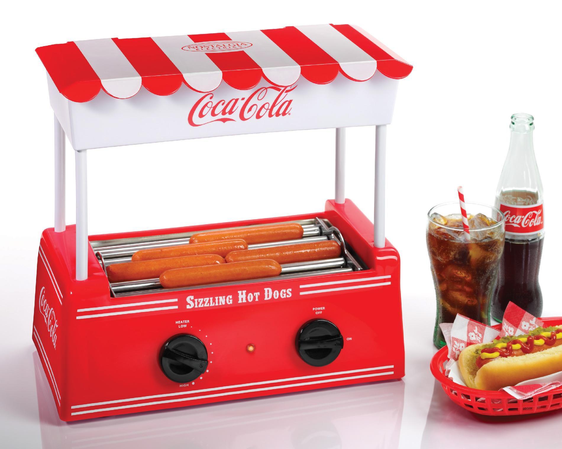 Nostalgia Electrics HDR565COKE Coca-Cola Series Hot Dog Roller