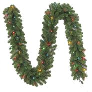 "Trim A Home® 9'X10"" Canadian Pine Garland X 240 Tips With 50 Ul In/Outdoor Lights, Clear And Multi Assorted at Kmart.com"