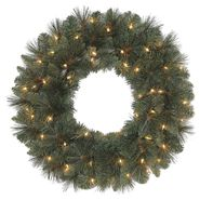 "Trim A Home® 24"" Crystal River Pine Wreath X 122 Tips With 50 Clear Lights at Kmart.com"
