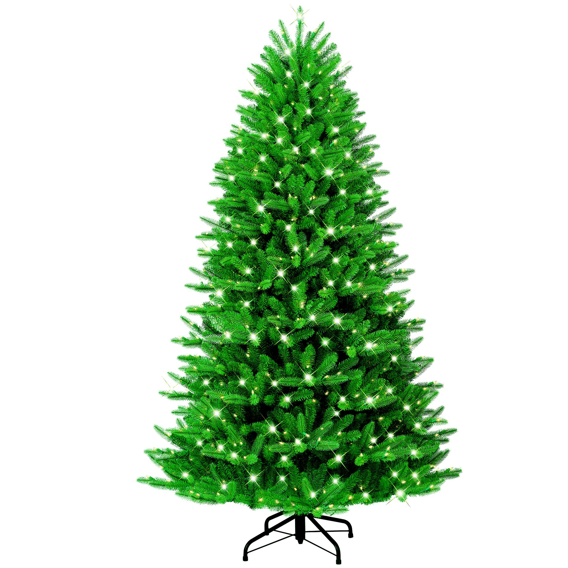 Just Cut Christmas Tree: GE 7ft Just Cut Grand Fir Christmas Tree With Easy Shape