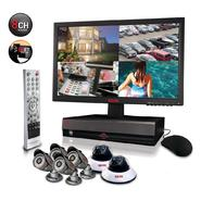 "Revo Security Surveillance System with 8 Channel 1TB DVR4, 18.5"" Monitor and (6)600TVL 80' Nightvision Cameras at Kmart.com"