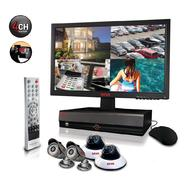"Revo Security Surveillance System with 4 Channel 1TB DVR4, 18.5"" Monitor and (4)600TVL 80' Nightvision Cameras at Kmart.com"