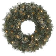 "Trim A Home® 24"" Pre-Lit Ashland Cashmere Wreath with Clear Lights at Kmart.com"