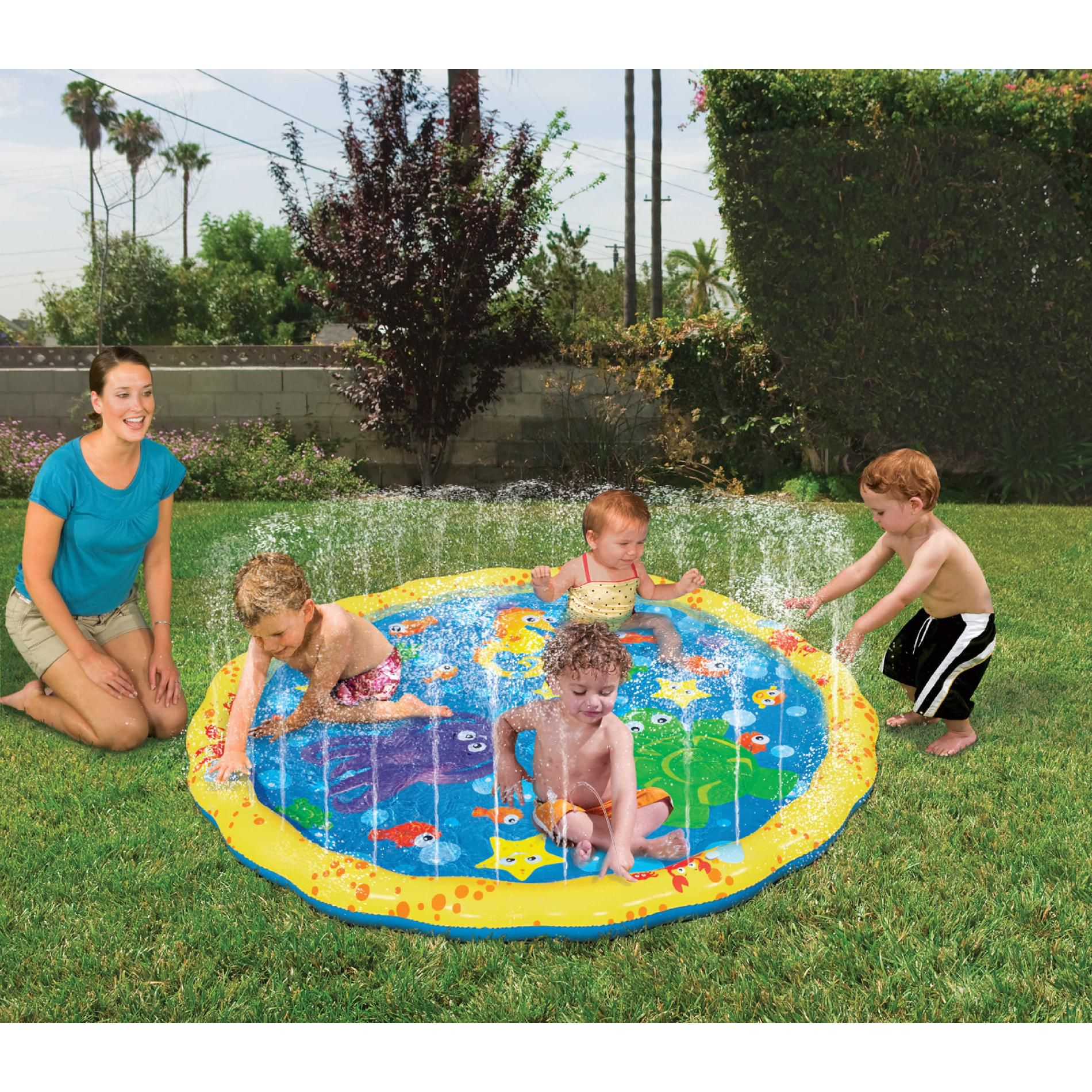 Outside Play Toys For Toddlers : Sprinkle 'n splash water play mat backyard toddler toys