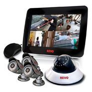 "Revo Security Surveillance System with 4 Channel 1TB DVR4, 10.5"" Built-in Monitor and (4)600TVL 80' Nightvision Cameras at Kmart.com"