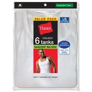 Hanes Men's Tanks 6 Pk ComfortSoft Tagless at Kmart.com