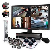 "Revo Security Surveillance System with 16 Channel 2TB DVR4, 21.5"" Monitor and (8)600TVL 80' Nightvision Cameras at Kmart.com"