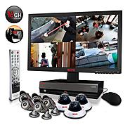 "Revo Security Surveillance System with 16 Channel 3TB DVR4, 23"" Monitor and (8)600TVL 80' Nightvision Cameras at Sears.com"