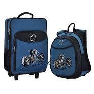 O3 USA Kids Luggage / Suitcase and Backpack Set With Integrated Cooler - Blue Motorcycle at Kmart.com