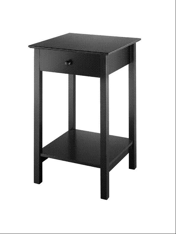 Black Accent Table Square