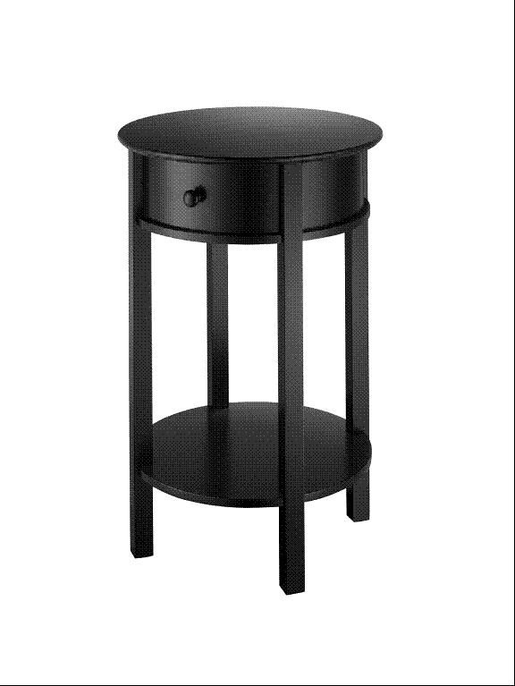 Black Accent Table Round