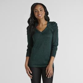 Attention Women's Sparkling V-Neck Sweater at Kmart.com