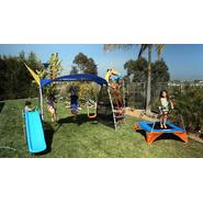 Ironkids Premier 550 Fitness Playground Swing Set with Rope Climb and Refreshing Mist at Kmart.com