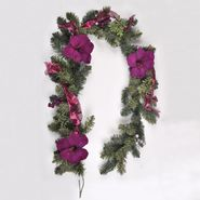 Jaclyn Smith Enchanted Holiday  6' Amaryllis Garland at Kmart.com