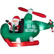 Gemmy Christmas Animated Airblown Santa in Helicopter at Kmart.com