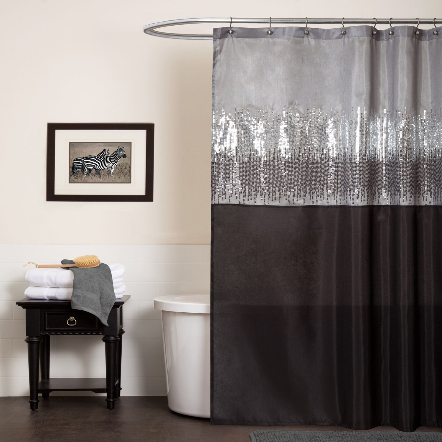 Lush Decor Night Sky Black/Gray Shower Curtain - Home - Bed & Bath ...