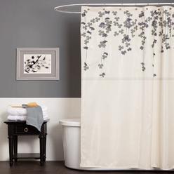 Lush Decor Flower Drop Ivory/Purple Shower Curtain at Kmart.com