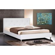 Baxton Barbara White Modern Bed with Crystal Button Tufting (Queen Size) at Kmart.com