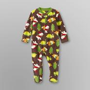 Small Wonders Infant Boy's Footed Fleece Pajamas - Christmas Dinosaurs at Kmart.com