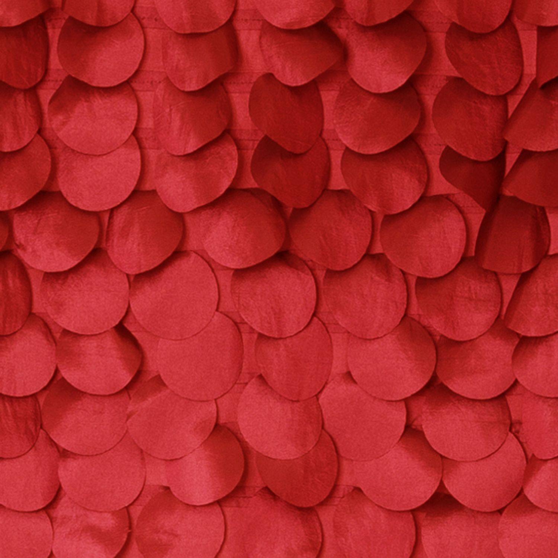 Lush Decor Lillian Red Shower Curtain