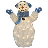 Drainage Industries Christmas Snowman with Blue Earmuffs and Scarf Crystal Light-up at Kmart.com
