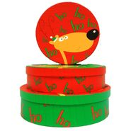 Drainage Industries Christmas Round Set 3 HoHoHo Deer Cookie Boxes at Kmart.com