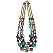 Jaclyn Smith Necklace 3 Row Chain Shell Multicolored at Kmart.com