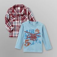 Route 66 Infant Boy's Plaid Shirt & Long Sleeve T-Shirt at Kmart.com