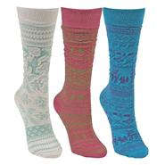 MUK LUKS® Kid's Microfiber 3 Pair Pack Knee High Socks at Kmart.com