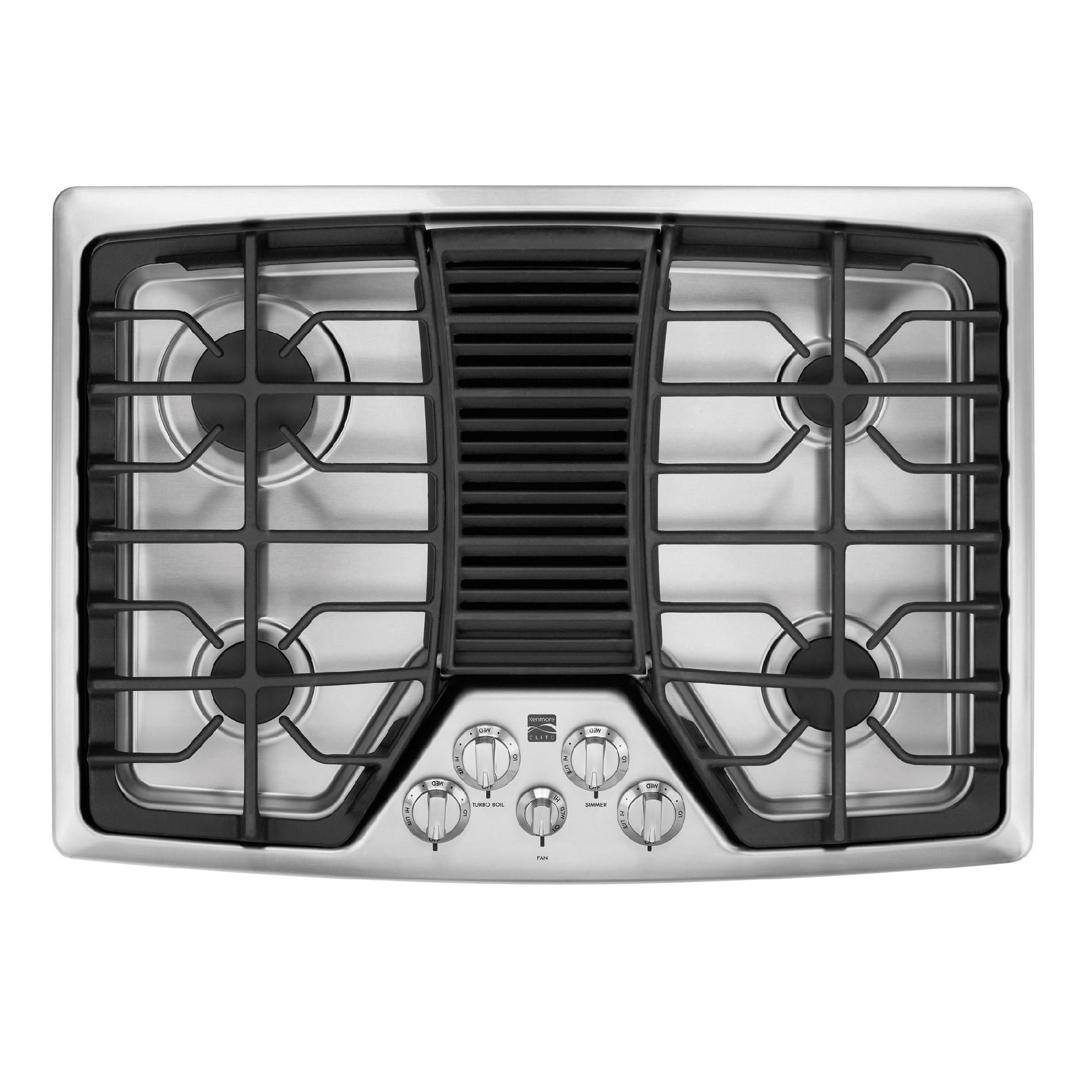 Natural Gas Cooktops With Downdraft