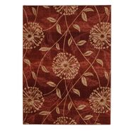 Jaclyn Smith Flowers and Leaves Rug - Red 5' x 8' at Kmart.com