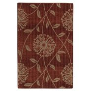 Jaclyn Smith Flowers and Leaves Rug - Red 2' x 3' at Kmart.com