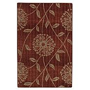 Jaclyn Smith Flowers and Leaves Rug - Red 2' x 4' at Kmart.com