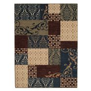 Jaclyn Smith Geometric Blocks Rug - Blue 5 x 8 at Kmart.com