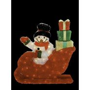 Imported by Arett Sales Christmas Snowman Riding in Red Sleigh - Gift Packages with 85 Lights Clear at Kmart.com