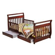 Dream On Me Sleigh Toddler Bed with Storage Drawer, Cherry at Sears.com
