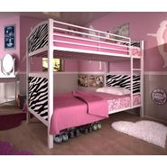 DHP Twin Twin Bunk Bed Zebra Printed Panel at Sears.com