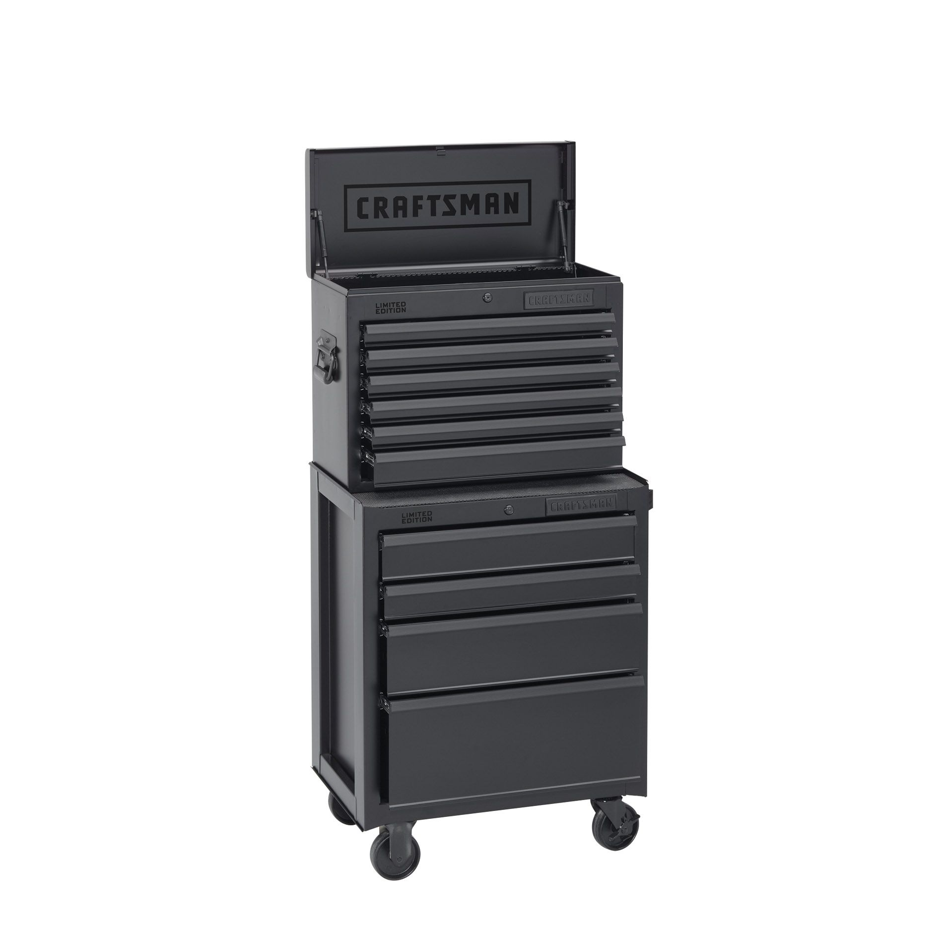 -Craftsman 10-Drawer 2-Piece Limited Edition Ball-Bearing Combination - Flat Black